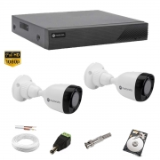 Kit cftv 1080p Motorola 2 Câmeras Dvr Mhdx 4 Can MTD04 500gb