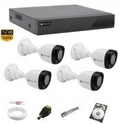Kit cftv 1080p Motorola 4 Câmeras Dvr Mhdx 4 Can MTD04 + 1TB