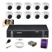 Kit Cftv 10 Câm Intelbras VHD 1120 Dome G5 Dvr MHDX 1116 1TB