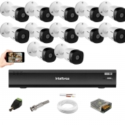 Kit Cftv 12 Câm 1220B Full HD Intelbras Dvr Imhdx 3016 1080p