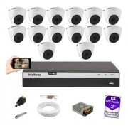 Kit CFTV 14 Câm 1080p Intelbras VHD 1220D Dvr MHDX 3116 +2TB