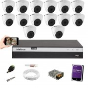 Kit Cftv 14 Câm. 1220 Dome Intelbras Dvr Mhdx 3116 C/HD 1TB