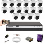 Kit Cftv 16 Câm. 1220 Dome Intelbras Dvr Mhdx 3116 C/HD 1TB