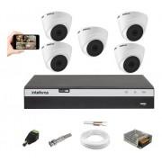 Kit Cftv 5 Cam. 1220D 1080p Intelbras Dvr Mhdx 3108 SEM HD