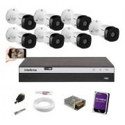 Kit CFTV 7 Câm. Intelbras VHD 1220B G5 Dvr mhdx 3108 com 1TB