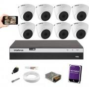 Kit Cftv 8 Câmeras vhl 1220D Intelbras Dvr Mhdx 3108 +HD 1TB