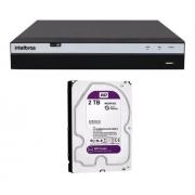 Kit cftv Intelbras 1220B 1220D C/ im5 + DVR 3104 2TB de HD