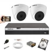 Kit Cftv Intelbras 2 Camera 1220 D Full hd Dvr Mhdx 3104 1TB