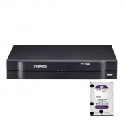 Kit CFTV Intelbras 4 Câm 1220D 2 Câm 1220B Dvr MHDX 1108 1TB