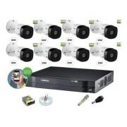 Kit Cftv Intelbras 8 Cam 1220b 1080p Dvr 8ch Mhdx 1108 S/ HD