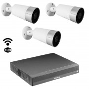Kit cftv Inteligente Wi-fi 3 cam Im5 mibo NVD / NVR 1304 6mp