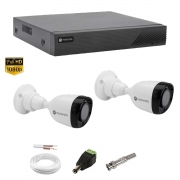 Kit Cftv Monitoramento Motorola 2 Câm Dvr 4 can MTD04 1080p