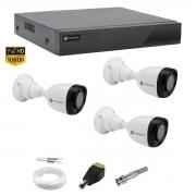 Kit Cftv Monitoramento Motorola 3 Câm Dvr 4 can MTD04 1080p