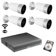 Kit cftv wi-fi Intelbras 4 cam mibo Im5 NVD 1304 6mp +HD 500