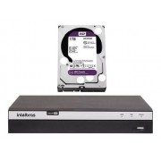 Kit Dvr 8 Canais 4k Intelbras Mhdx 5208 8 Câmeras + 1Tb Purple