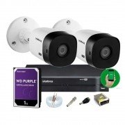 Kit Intelbras 2 Cam 1120b Dvr 4 Mhdx 1104 Hd 1 1tb Wd Purple
