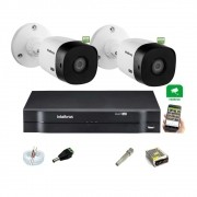 Kit Intelbras 2 Cam 1220b Full hd 1080p Dvr Mhdx 1104