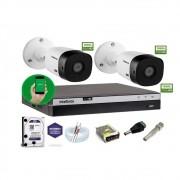 Kit Intelbras 2 Camera Seg 1220B Fullhd Dvr Mhdx 3104 +1Tb