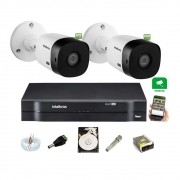 Kit Intelbras 2 Cam Externa1220b Full hd 1080p Dvr 1104 C/ HD