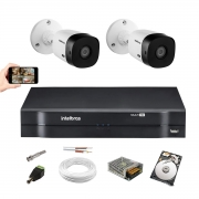 Kit Intelbras 2 Cam Vhl 1220 B Full hd 1080p Dvr 1104 1 Tera