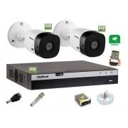 Kit Intelbras 2 Camera Seg 1220b Fullhd Dvr Mhdx 3104 sem HD