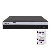 Kit Intelbras 3 Cam Personalizado Full Hd Dvr 3104 1T Purple