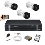 Kit Intelbras 3 Cam Vhl 1220 B Full hd 1080p Dvr 1104 1 Tera