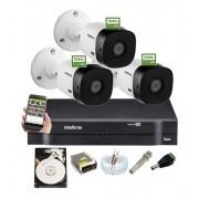 Kit Intelbras 3 vhl Cam 1220b 1080p Ir20m Dvr Mhdx 1104 C/Hd