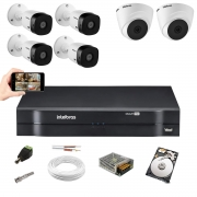 Kit  Intelbras 4 Cam 1220b + 2 cam 1220D Dvr 8ch 1108 + 1TB