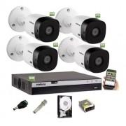 Kit Intelbras 4 Camera Seg 1220b Full Dvr Mhdx 3104 S/ Cabo