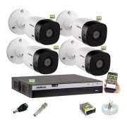 Kit Intelbras 4 Camera Seg 1220b Fullhd Dvr Mhdx 3104 S/HD
