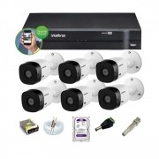 Kit Intelbras 6 Cam 1120b Ir 20m Dvr 8 Mhdx 1108 1TB Purple