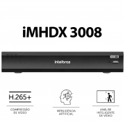 Kit Intelbras 6 Cam 1220b 1080p Dvr iMhdx 3008 Hd 1Tb Purple