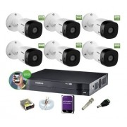 Kit Intelbras 6 Cam 1220b 1080p Dvr Mhdx 1108 Hd 1Tb Purple