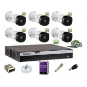 Kit Intelbras 6 Cam 1220b 1080p Dvr Mhdx 3108 Hd 1Tb Purple