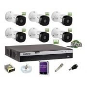 Kit Intelbras 6 Cam 1220b 1080p Dvr Mhdx 3108 Hd 1Tb Purple