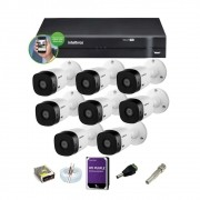 Kit Intelbras Cftv 8 Cam 1120b G4 Dvr 8 Mhdx 1108 1Tb Purple