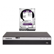 Kit Intelbras Cftv 8 Cam 1220b 1080p Dvr Mhdx 5208 1T Purple