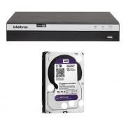 Kit Intelbras Cftv 8 Cam 1220b + vHD 3230B + Dvr 3108 2TB