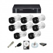 Kit Cftv 8 Câm. vhl 1120B Intelbras Dvr Mhdx 1108 C/HD 500