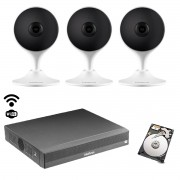 Kit Intelbras Int. artificial 3 cam Im3 NVD/NVR 3104 +HD 500