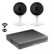 Kit cftv inteligente Intelbras wi-fi 2 cam Im3 + NVD 1304