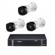 Kit Mhdx 1108 Com 3 Câmeras VHL 1220 B Full HD Intelbras
