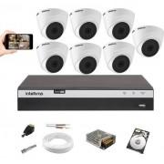 Kit Monitoramento Intelbras 7 Câm. VHD 1220D G5 Dvr 3108 +HD