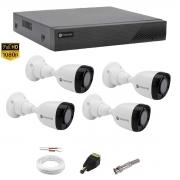 Kit Monitoramento Motorola 4 Câm Dvr 4 canais MTD04 S/ HD