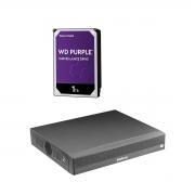 Kit Nvd 1304 C/ 4 Câmeras Wifi IM5 Intelbras +Hd 1tb Purple