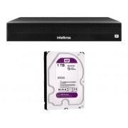 Kit Nvr Intelbras NVD 1308 com 6 cameras wifi i3 com Hd 1tb