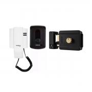 Kit Porteiro IPR 8010 Intelbras + Fechadura Elétrica FX 500