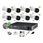Kit Seg Intelbras 8 Cam 1220b 1080 Dvr Mhdx 1108 Cx Sobrepor