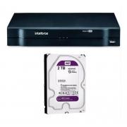 Kit CFTV Intelbras 6 Câm 1220D 2 Câm 1220B Dvr MHDX 1108 +HD